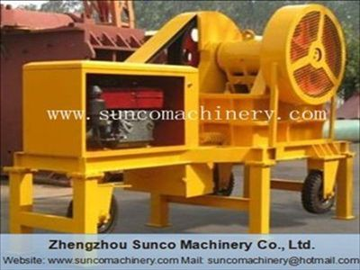 Small Portable Rock Crusher with diesel engine