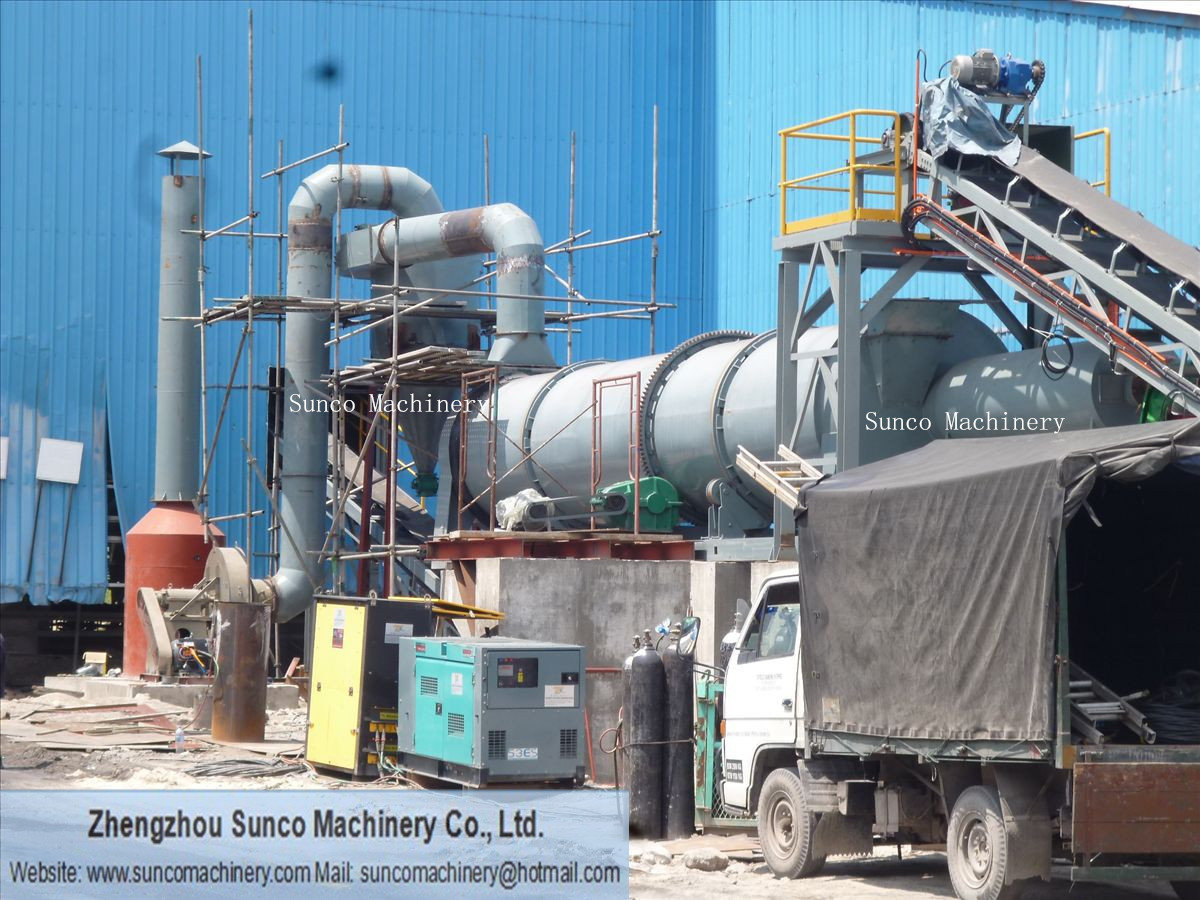 Output Capacity 10t/h Sand Drying System for Malaysia Customers