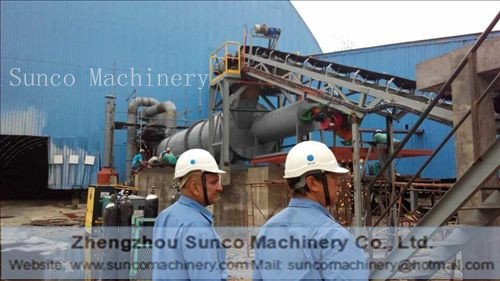 Good News! Malaysia Capacity 30 t/h Slag Dryer is installed well.