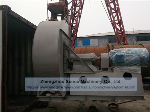 75KW Draft Fan with VSD Motor of the chicken manure drying line: