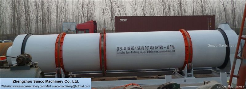 Sand dryer for drying aggregate, sand rotary dryer, sand dryer machine, sand drying machine, sand rotary dryer