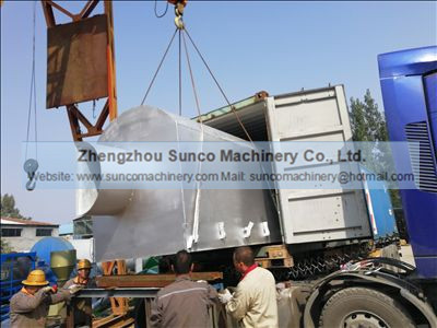 Waste Wood Fired Hot Air Furnace for chicken manure drying machine