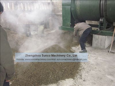 Rotary Drum Dryer Machine for drying poultry manure, fertilizer, compost