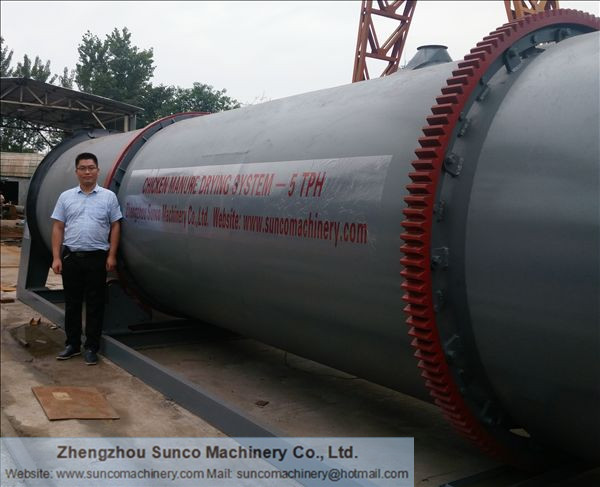 Chicken Manure Dryer for drying poultry manure