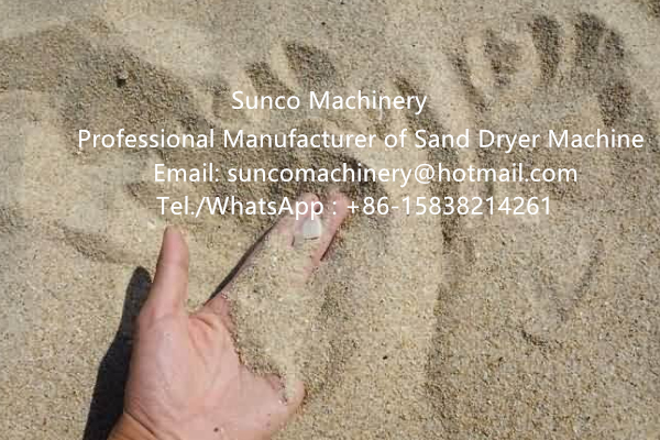 drying sand machine, sand dryer , rotary sand dryer