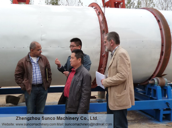 Egypt Customer for Chicken Manure Drying Machine
